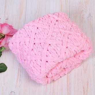 Плед рожевий для дівчинки