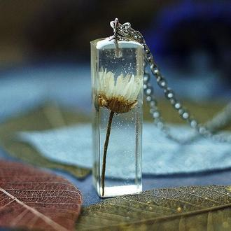 Кулон-кристалл с Ромашкой