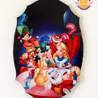 Набор панно для детской Алиса в стране чудес (3 шт)
