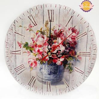 Часы Шебби-шик с маятником
