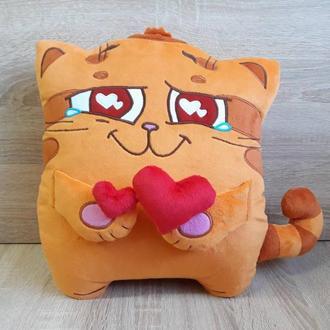 Мягкая игрушка - подушка стикер кот Манул из Телеграм