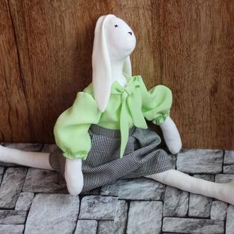 Заяц тильда игрушка интерьерная для детей для девочки