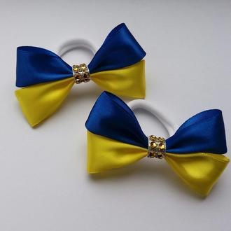 Бантики синьо-жовті в українському стилі