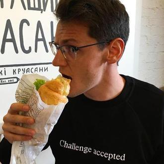 Свитшот с надписью «Challenge accepted», унисекс