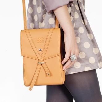 """Оранжевая сумочка через плечо """"Floria"""""""