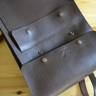 Рюкзак из натуральной премиум кожи. Ручная работа. Натуральная кожа.