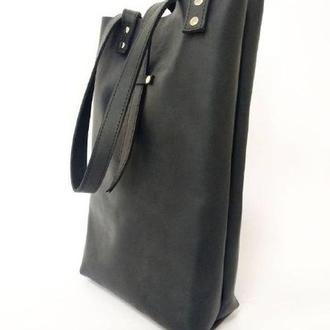 Стильная сумка - шоппер из кожи