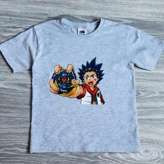 """Дитяча футболка з ручним розписом """"Бейблейд"""""""