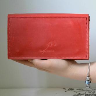 Клатч - кошелек из натуральной кожи Crazy horse. Натуральная кожа