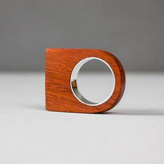 Каблучка з дерева та срібла