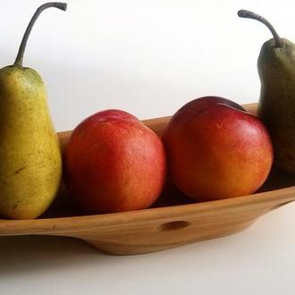 """Деревянная ваза для фруктов, конфет """"Бадия"""""""