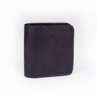 Кожаный кошелек черного цвета