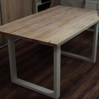 Стол из массива ясеня в стиле LOFT \ Лофт