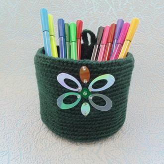 Декоративная корзинка для ручек и карандашей или мелочей