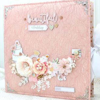 Большой свадебный фотоальбом ручной работы в наличии , подарок на свадьбу
