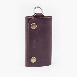 Ключница кожаная шоколадного цвета