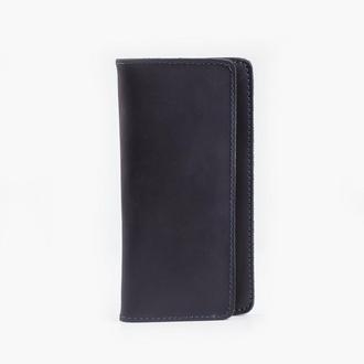 Кожаный клатч черного цвета