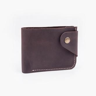 Кожаный кошелёк шоколадного цвета
