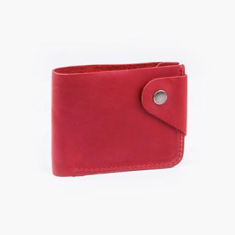 Кожаный кошелёк красного цвета