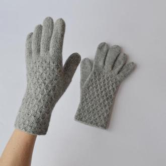 Женские перчатки из нежного мериноса. Зимние перчатки из лембсвула