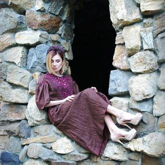 """Нарядное платье """"Малиновое сияние"""" длинное платье, платье макси, дизайнерское платье"""