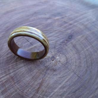Эксклюзивные кольца из дерева зебрано и палисандр