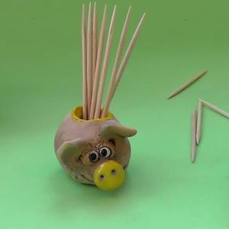 Подставка для зубочисток Фигурка Свинья