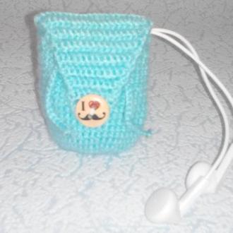 Вязанный рюкзак-брелок для ключей или наушников