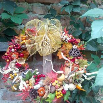 Интерьерный венок осень