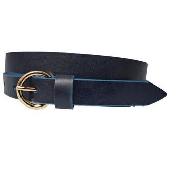 Classic20S женский кожаный синий узкий ремень пояс натуральная кожа кожанный пасок
