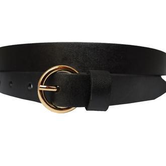 Classic20B женский кожаный черный узкий ремень пояс натуральная кожа кожанный пасок