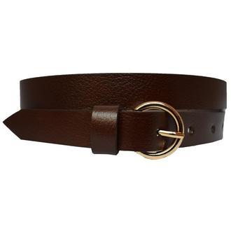 Classic20K женский кожаный коричневый узкий ремень пояс натуральная кожа кожанный