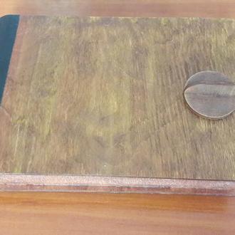Коробка, подарок, сувенир, для бумаги, для украшений, дерево, кожа