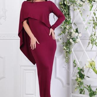 Платье с пелериной из вискозы