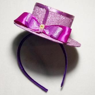 Мини шляпка на обруче