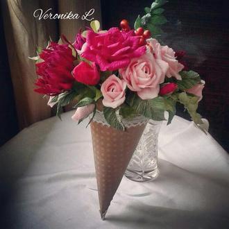 """Цветы с конфетами.Конфетный букет """"Краски осени"""""""