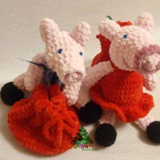 Свинка Пеппа и Братик Джордж плюшевые игрушки пара