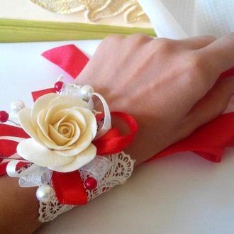 Распродажа! Свадебный браслет для невесты или подружки.