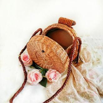 Плетена сумка таблетка.