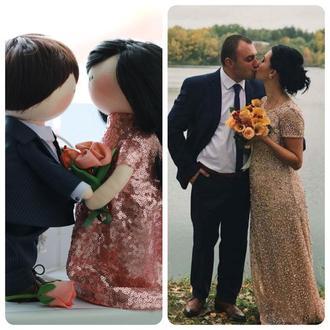 Интерьерные (портретные) куклы Свадебная пара