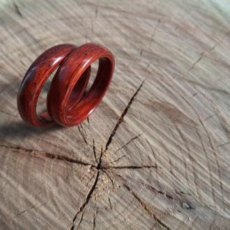 Женские деревянные кольца из красного дерева падук 17 размера