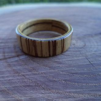 Кольцо из дерева зебрано (зебравуд) 21 размера