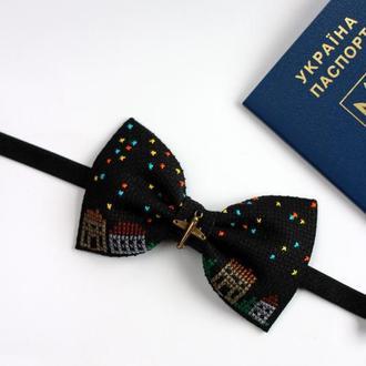 "Вышитая галстук-бабочка ""If you love to fly"""