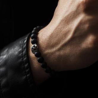 чоловічий браслет з шунгита