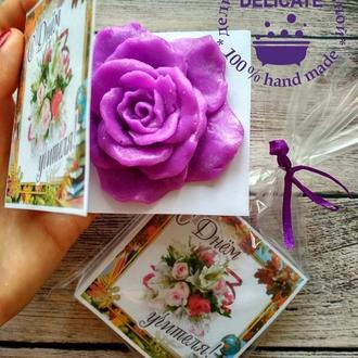 Оригинальный подарок на День Учителя -мыло ручной работы Роза