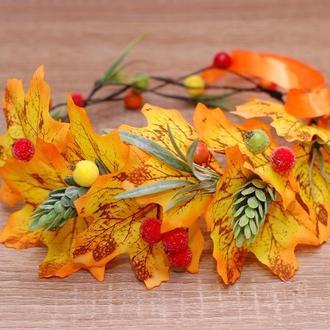 Осенний венок веночек для фотосессии, на праздник осени