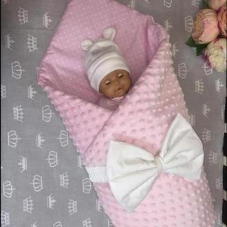 Плед конверт 2в1 для новорожденных