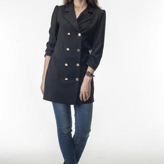 Пиджак-платье черный