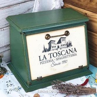 """Хлебница из дерева """"Тоскана"""". На заказ"""