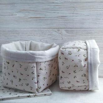 Мягкие текстильные корзинки, органайзеры для косметики, интерьерные корзинки